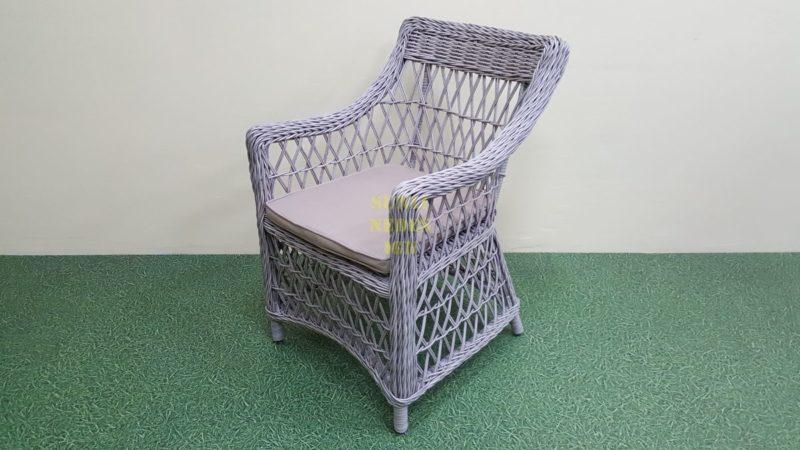 Фото-Кресло ротанг искусственный Beatrix grey