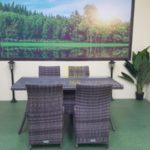 Садовая мебель плетеная Rose brown grey 4