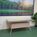 Фото-Aura beige 160 Стол из искусственного ротанга