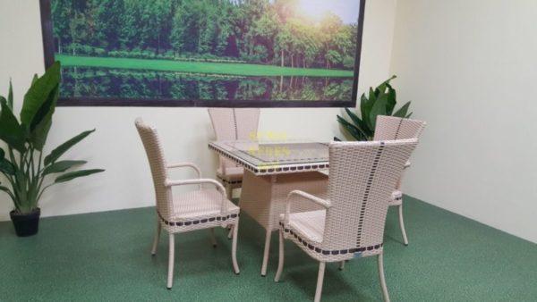 Фото-Плетеная мебель Aura beige 4 + 90