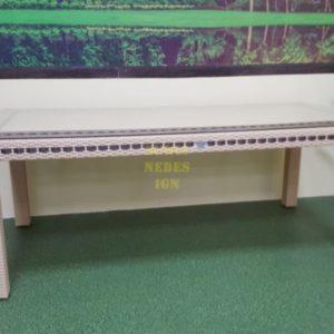 Aurora beige 160 Стол плетеный