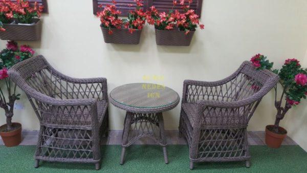 Beatrix beige cafe set Плетеная мебель
