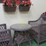 Фото-Beatrix beige cafe set Ротанг мебель для кафе