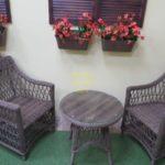 Фото-Beatrix beige cafe set Садовая плетеная мебель