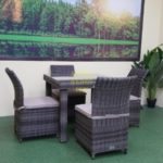 Плетеная мебель Infinity & Rose brown grey 4