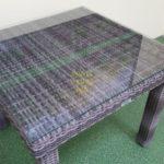 Фото-Стол из искусственного ротанга Infinity brown grey 90