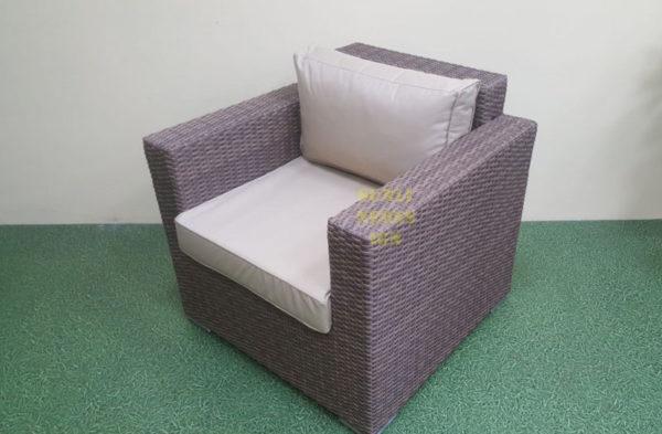 Фото-Adagio beige Кресло для отдыха ротанг искусственный