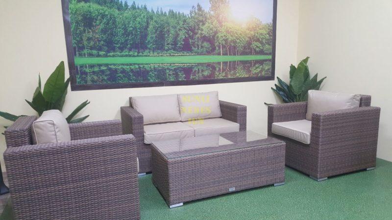 Плетеная мебель ротанг искусственный Adagio beige set 2