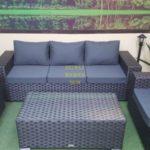 Комплект мебели из ротанга искусственного Cinzano black