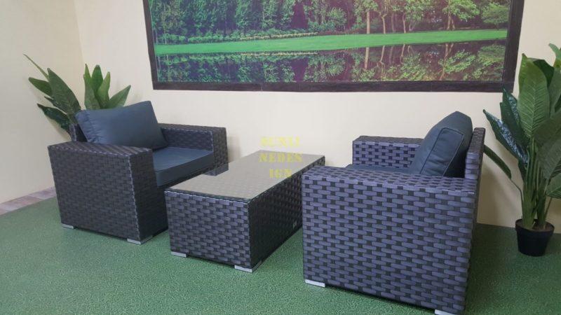 Фото-Cinzano black Плетеная мебель cafe set
