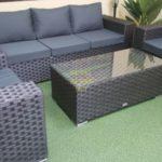 Садовая мебель из ротанга Cinzano black