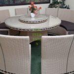 Стол из ротанга Era и Садовая мебель China beige