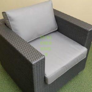 Кресло Louisiana grey из искусственного ротанга