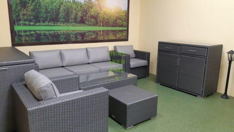 Мебель Louisiana grey из искусственного ротанга