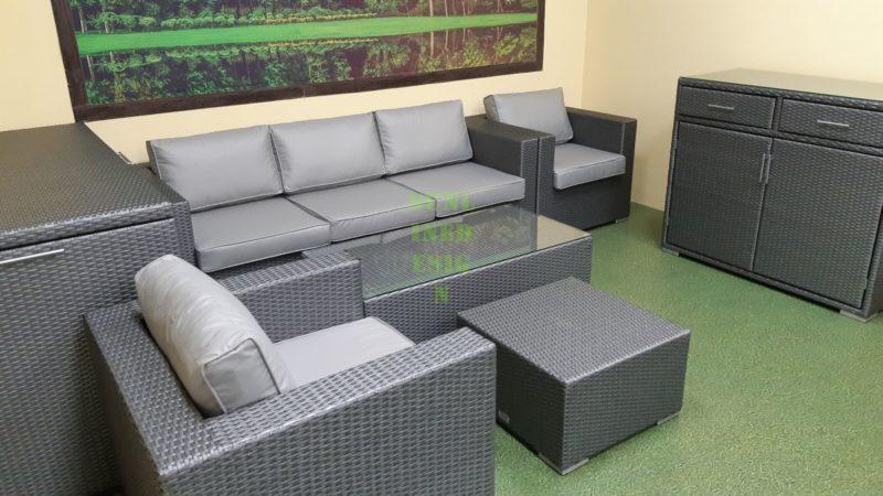 Louisiana grey set 3 Плетеная мебель