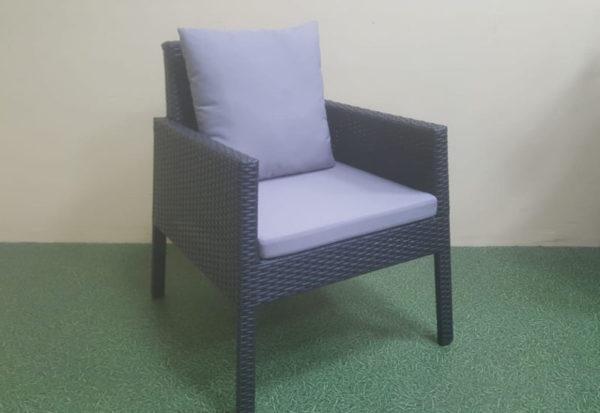 Rocket black Кресло плетеное из ротанга