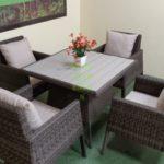 Rocket brown set 4 Мебель на террасу плетеная