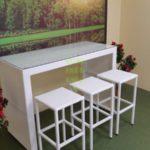 Barista white Барная мебель плетеная