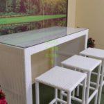 Barista white Белая барная мебель из ротанга